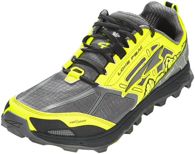 Altra Lone Peak 4 Chaussures de trail Homme, grayyellow